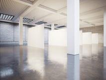 Zombe acima do interior da galeria com lona e branco Fotos de Stock Royalty Free