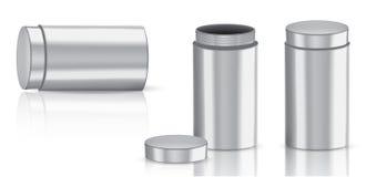 Zombe acima do produto de empacotamento de metal realístico para a garrafa cosmética da beleza ou o fundo isolado frasco da medic ilustração stock