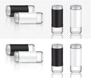 Zombe acima do produto de empacotamento de metal realístico para a ilustração isolada garrafa do fundo de sal e de pimenta ilustração royalty free