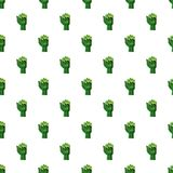 Zombi arm pattern. Seamless repeat in cartoon style vector illustration Royalty Free Stock Image