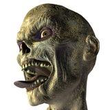 Zombi avec la langue tendue Photographie stock libre de droits