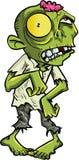 Zombi de bande dessinée avec un grand oeil jaune Photo libre de droits