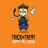 Zombi de Chinois de Halloween Images libres de droits