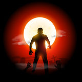 Zombi de Dia das Bruxas Imagens de Stock