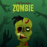Zombi de Halloween Photographie stock libre de droits