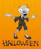 Zombi de Halloween de bande dessinée. Image stock