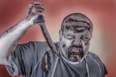 Zombi del carnicero Fotos de archivo libres de regalías