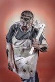 Zombi del carnicero Fotografía de archivo