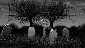 Zombi del cementerio stock de ilustración