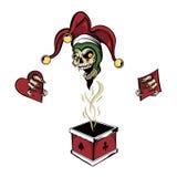 Zombi del comodín de la caja del póker Fotos de archivo libres de regalías