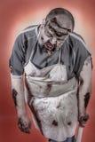 Zombi do carniceiro Imagens de Stock Royalty Free