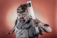 Zombi do carniceiro Imagem de Stock