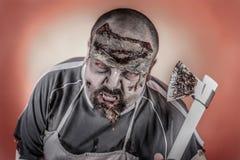 Zombi do carniceiro Fotografia de Stock