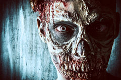 Zombi do close-up Foto de Stock Royalty Free