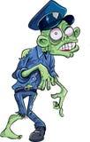 Zombi do polícia dos desenhos animados Foto de Stock