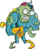 Zombi do super-herói dos desenhos animados Imagens de Stock