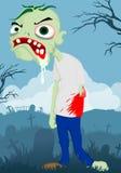 Zombi dos desenhos animados Imagens de Stock Royalty Free