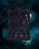 Zombi em uma gaiola - figura de Halloween Fotografia de Stock