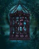Zombi em uma gaiola - figura de Halloween Foto de Stock Royalty Free
