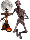 Zombi - figura de Halloween Foto de Stock Royalty Free