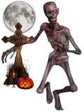 Zombi - figura de Víspera de Todos los Santos Foto de archivo libre de regalías
