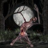 Zombi - figura de Víspera de Todos los Santos Fotografía de archivo