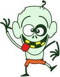 Zombi fresco de Halloween que hace caras divertidas Fotos de archivo