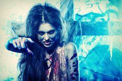Zombi girl Stock Images