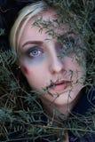Zombi girl.make-up.halloween royalty free stock photo