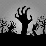 Zombi hands. Horror for halloween party banners, posters, flyers Royalty Free Illustration