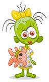Zombi-menina pequena Imagens de Stock Royalty Free