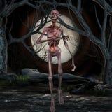 Zombi - scène de Veille de la toussaint Photographie stock