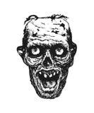 zombi Signal d'avertissement Tiré par la main Argent électronique Photos libres de droits