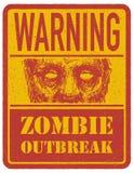 zombi Signal d'avertissement Tiré par la main Vecteur Images libres de droits