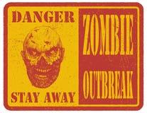 zombi Signal d'avertissement Tiré par la main Vecteur Photos libres de droits