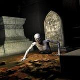 Zombi - subiendo del sepulcro Foto de archivo libre de regalías