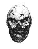 zombi Tiré par la main Argent électronique Images libres de droits
