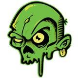 Zombi verde ilustração do vetor