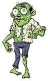 Zombi verde do homem de negócios dos desenhos animados. Imagem de Stock