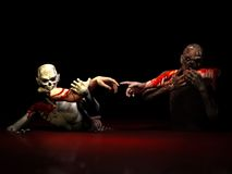 Zombieën die Verwezenlijking eten Stock Afbeelding