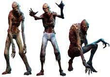 Zombieën of lijkenetende geesten 3D illustratie Royalty-vrije Illustratie