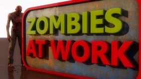 Zombieën op het werk Royalty-vrije Stock Afbeeldingen