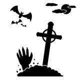 Zombie από τον τάφο του Στοκ Εικόνες