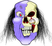 Zombie. Cartoon graphic depicting a zombie's face (concept: Halloween vector illustration