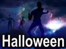 Zombie 2 di Halloween Immagine Stock Libera da Diritti