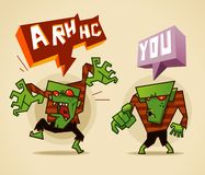 Zombie. Two Zombie. Colorful zombie vector illustration stock illustration