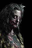 Zombie. A Girl Zombie isolated on black Stock Photo