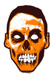Zombie. The face of zombie with retro tone color mode vector illustration