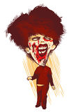 Zombie. Hungry zombie looking for fresh flesh vector illustration