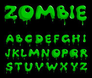 Zombie alphabet Royalty Free Stock Images